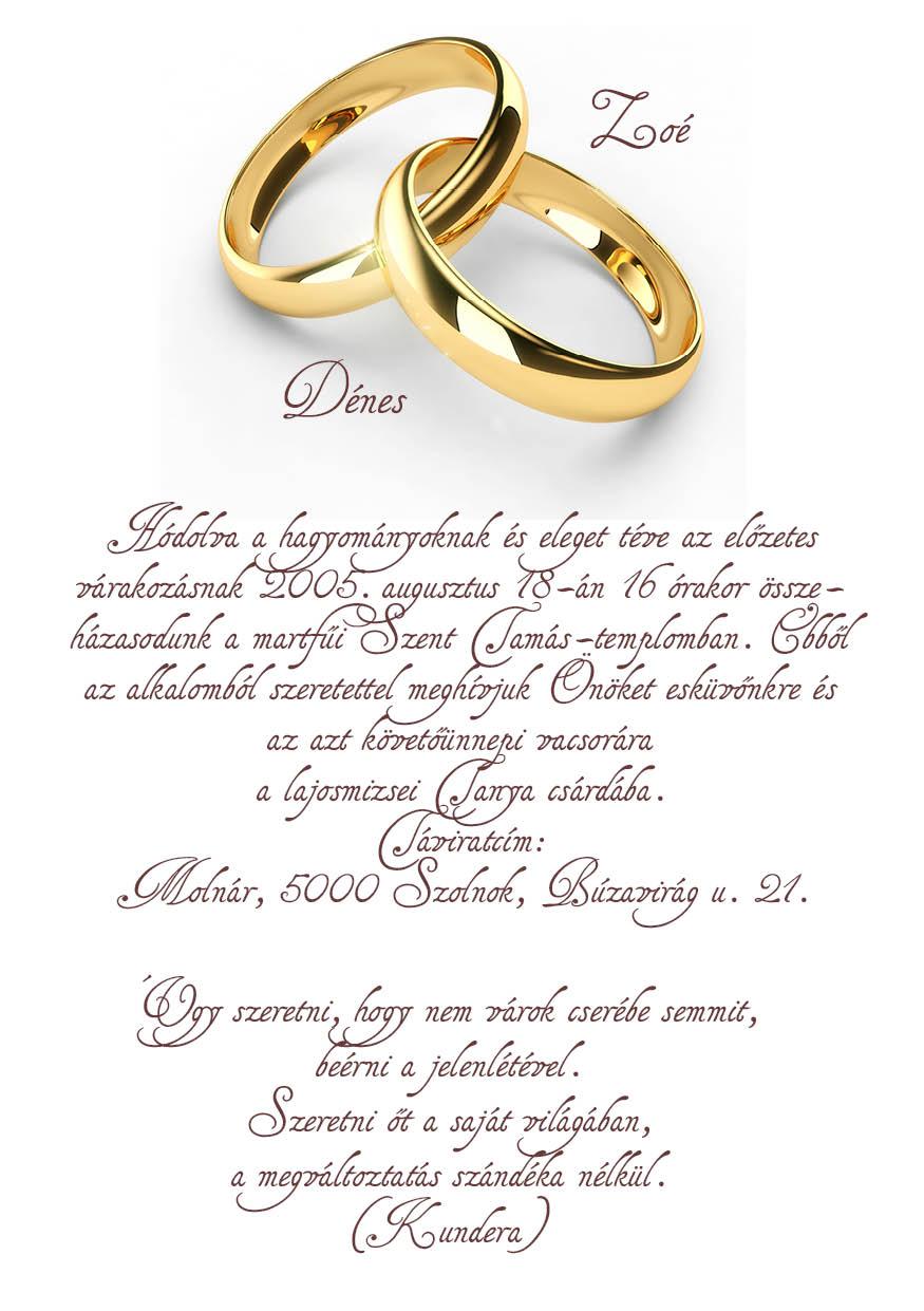 53 minta - tekercses esküvői meghívó
