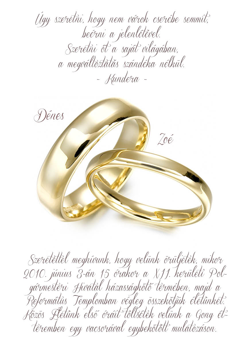 55 minta - tekercses esküvői meghívó