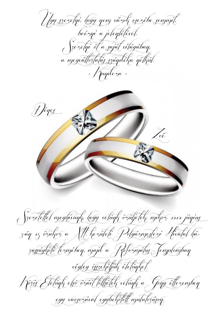 56 minta - tekercses esküvői meghívó