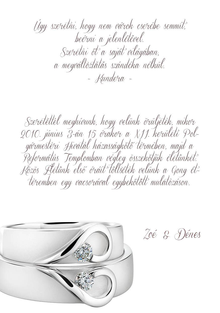 57 minta - tekercses esküvői meghívó