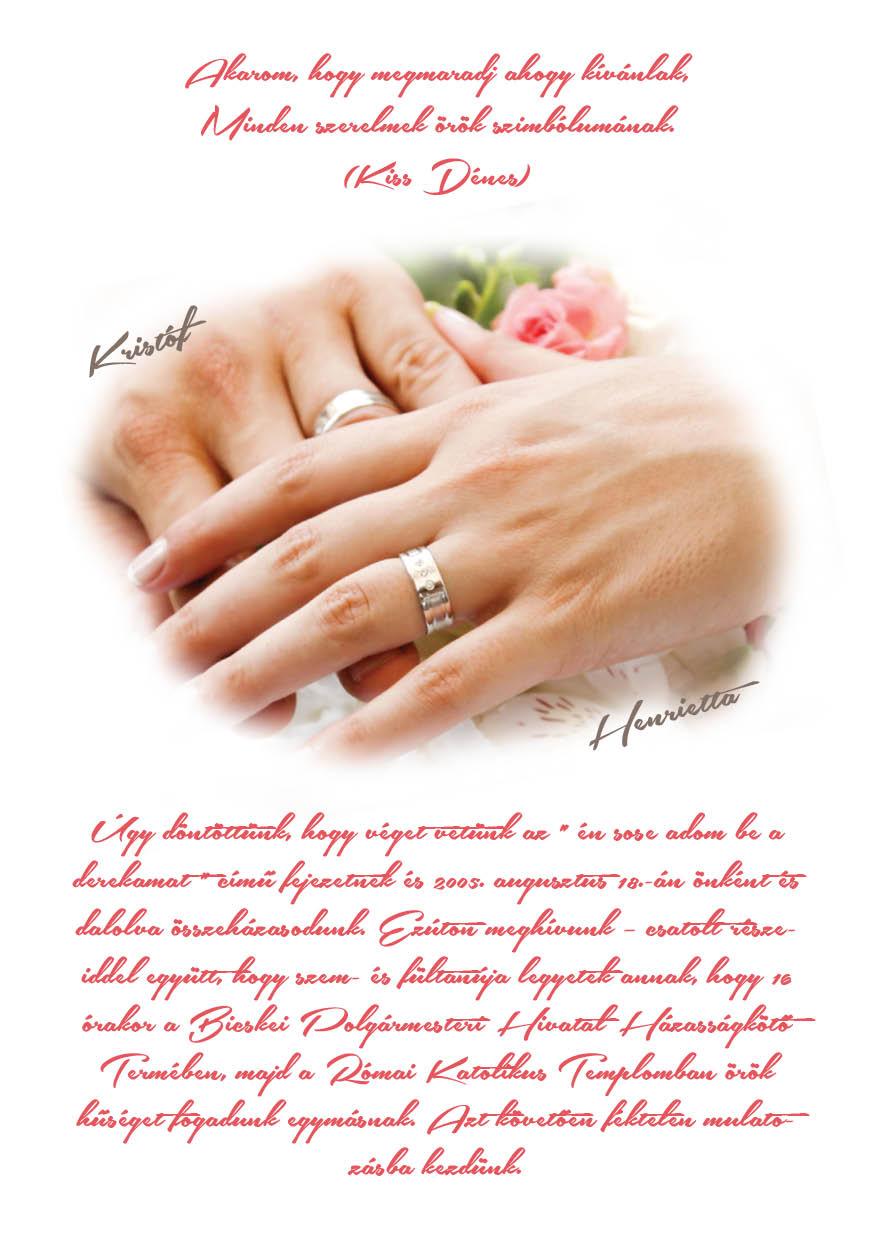 62 minta - tekercses esküvői meghívó