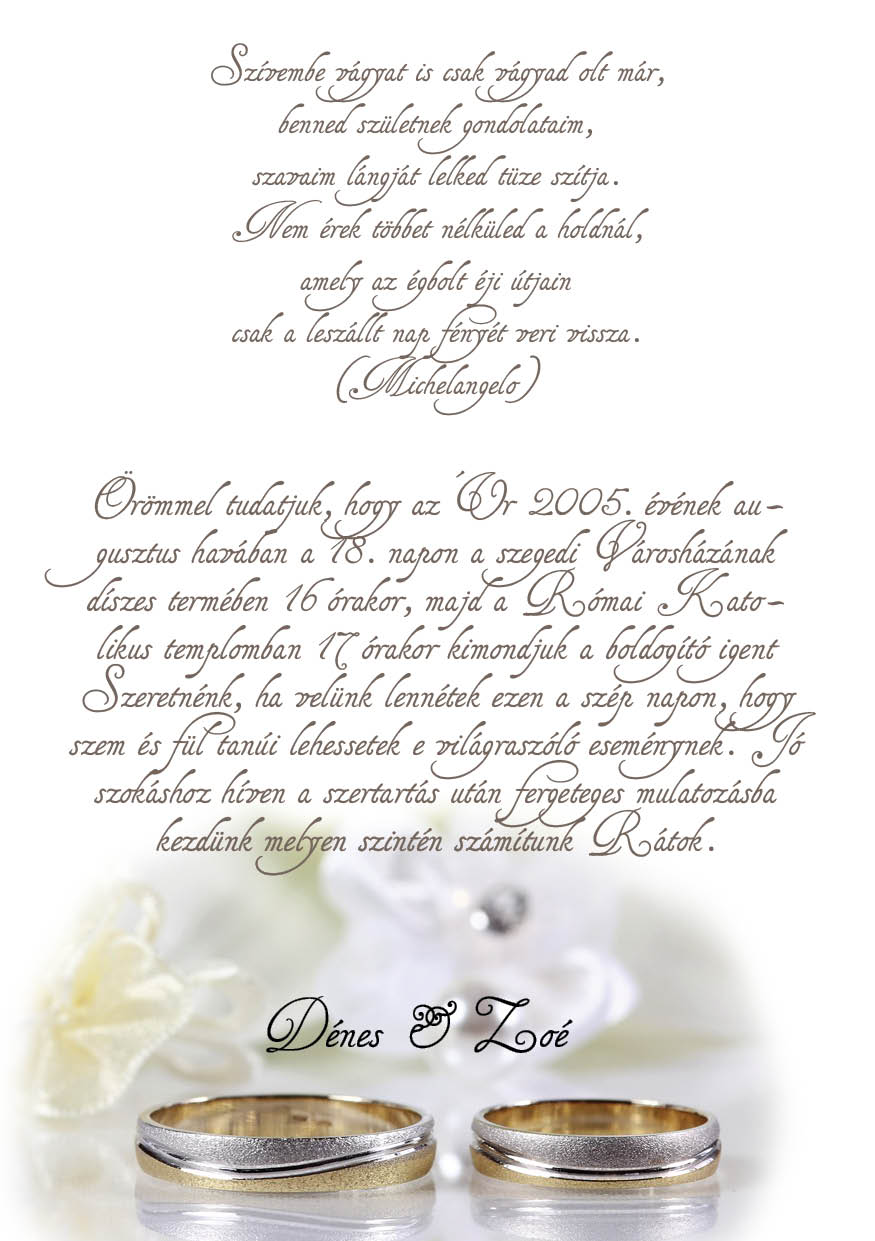 63 minta - tekercses esküvői meghívó