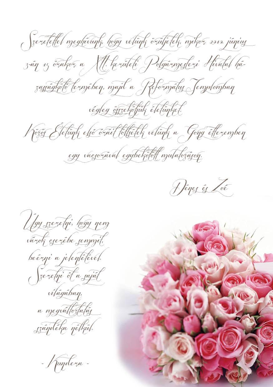 64 minta - tekercses esküvői meghívó