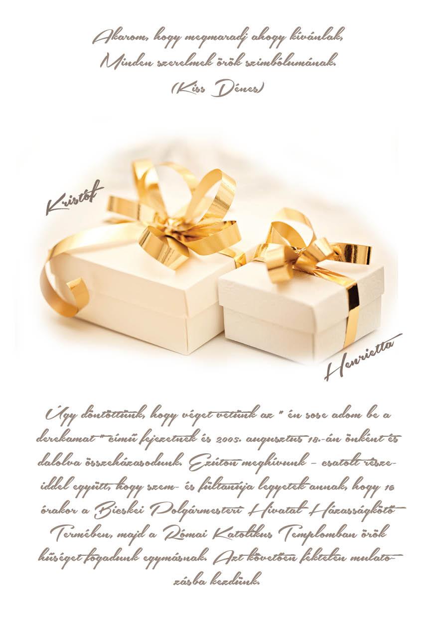68 minta - tekercses esküvői meghívó