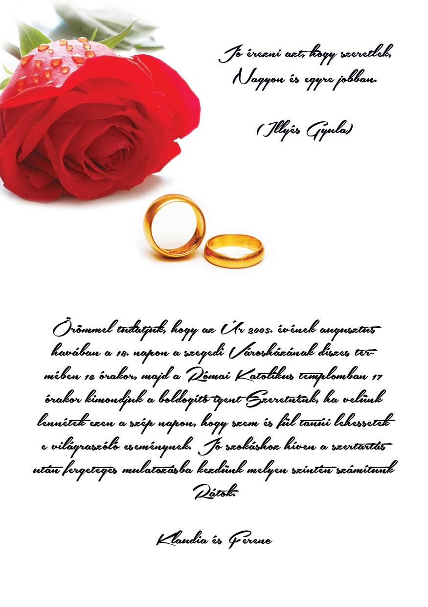 69 minta - tekercses esküvői meghívó