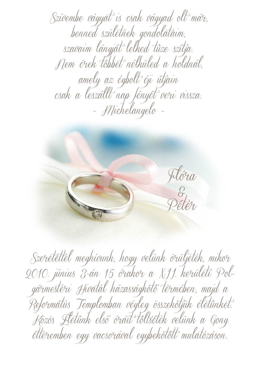 74 minta - tekercses esküvői meghívó