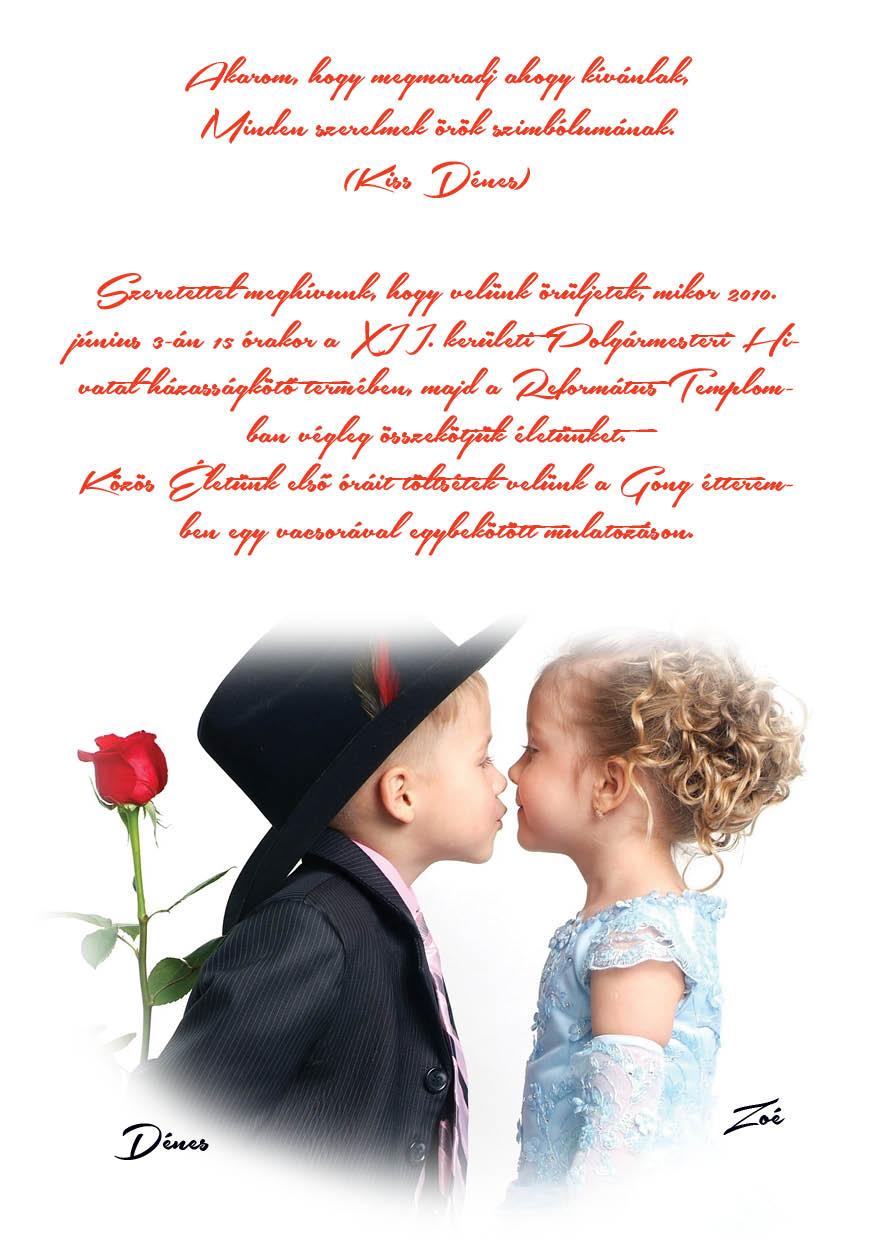 77 minta - tekercses esküvői meghívó