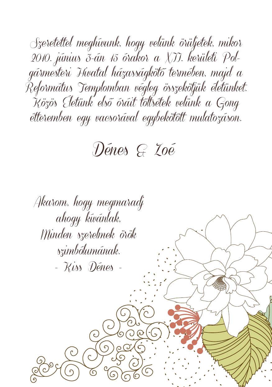 83 minta - tekercses esküvői meghívó