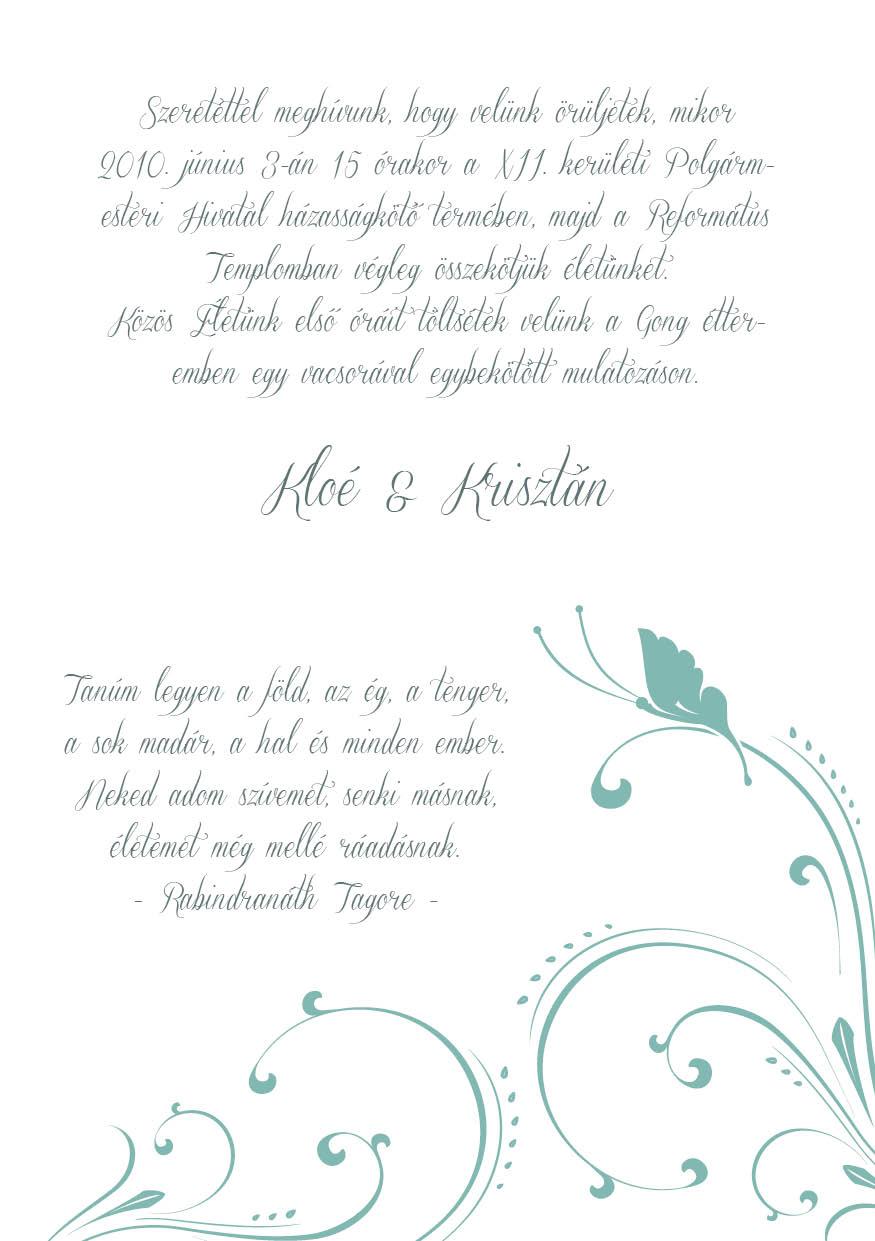 110 minta - tekercses esküvői meghívó
