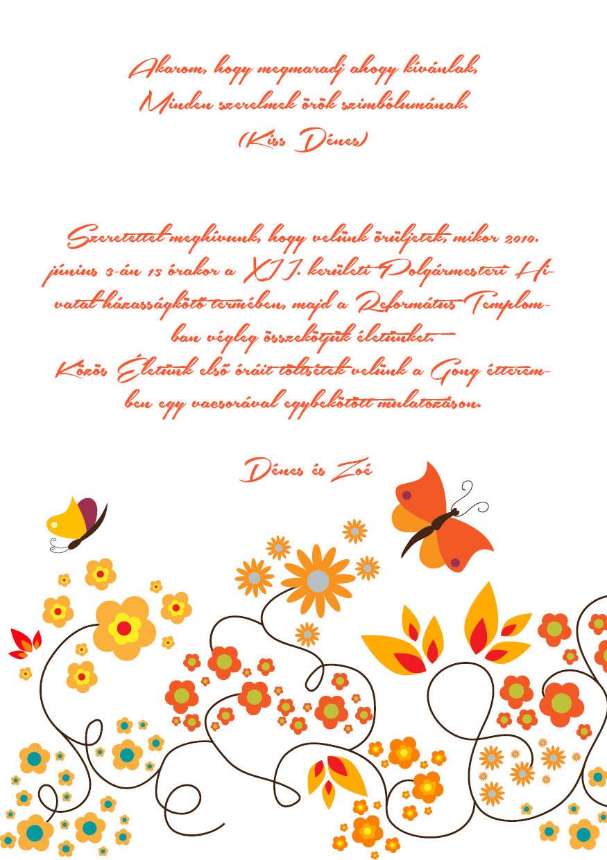 112 minta - tekercses esküvői meghívó