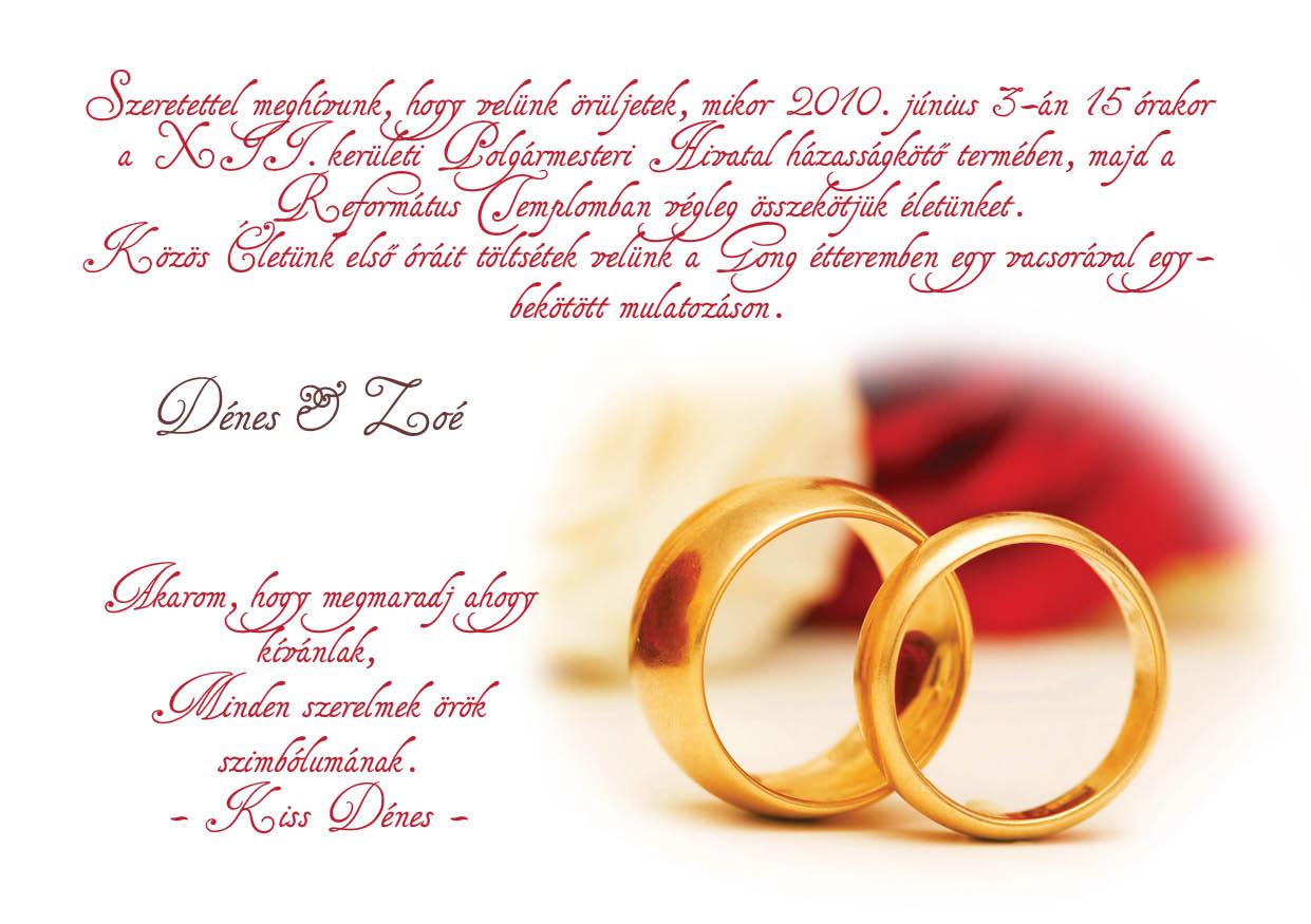 115 minta - tekercses esküvői meghívó