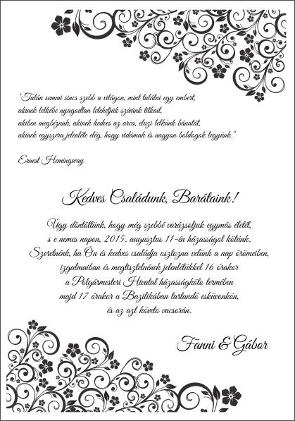 131 minta - tekercses esküvői meghívó